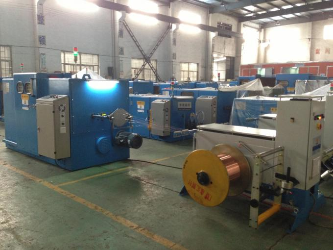 Single Shaft Wire Twister Machine / PLC Control Plastic Extrusion Line