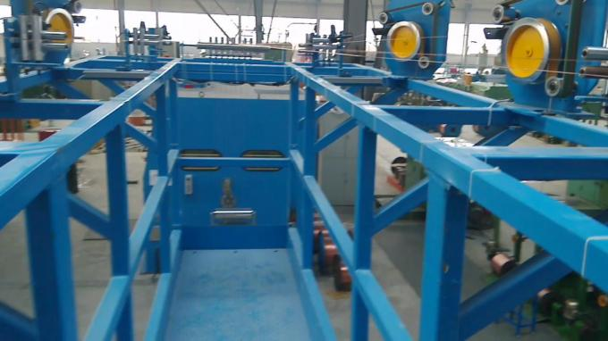 Sky Blue Large Wire Twister Machine / High Speed Wire Extruder Machine