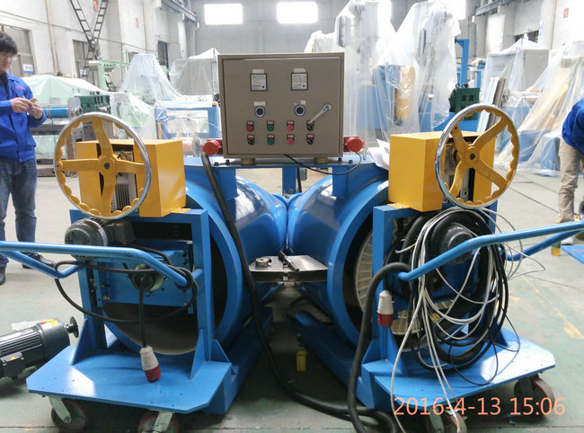 Fuchuan Lut Barrel Up Pay Off for Plastic Extrusion Line 800mm Bobbin