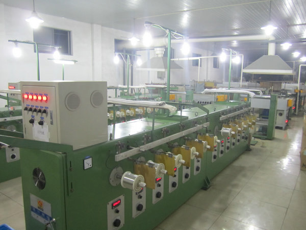 55Kw 40Pcs Wire Tinning Machine Inverter Control With 8 Inch Take Up Bobbin