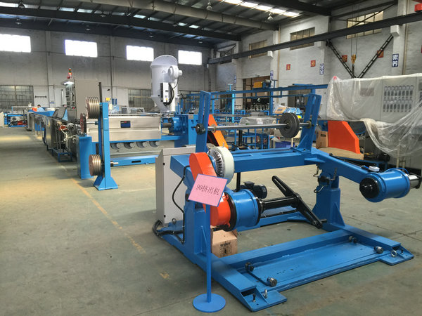 FC-1250 Magnetic Tension Wire Pay Off Machine And 1250 Take Up Machine For Extruder Line