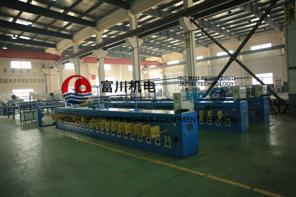 Ultra Fine Copper Wire Tube Annealing Machine , Energy Saving Wire Tinning Machine