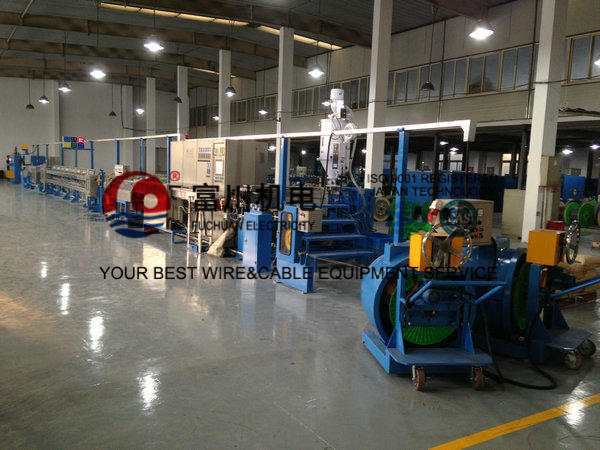 Plastic Insulating Wire Extruder Machine With Screw Dia 60mm 600 m / min