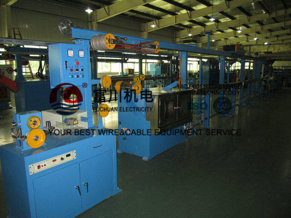 Photovoltaic 50 Cable Extrusion Machine Non - Halogen Flame Resistant Wire Dia 0.6-4mm