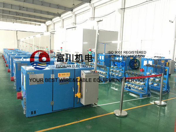 PLC Control Copper Wire Processing Equipment For Stranding Ultra Conductor