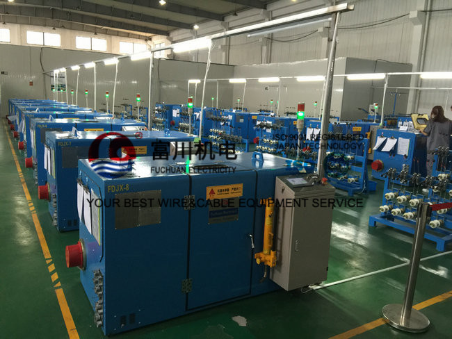 Sky Blue Ultra Fine Wire  Cable Braiding Machine Single Dia 0.03mm - 0.32mm