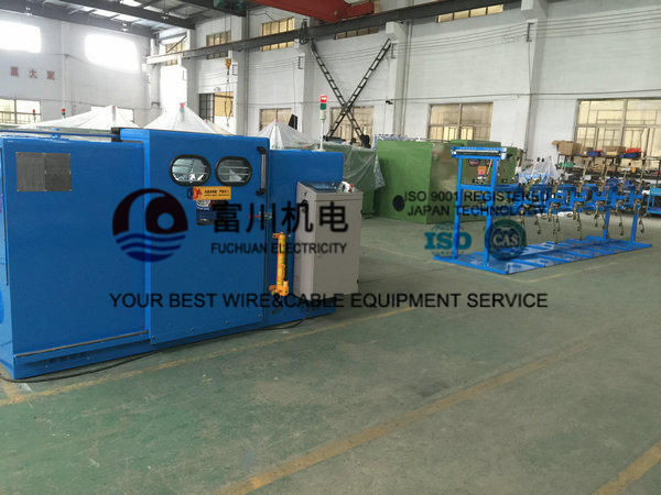 Sky Blue Copper Cable Twisting Machine , Double Twist Bunching Machinery