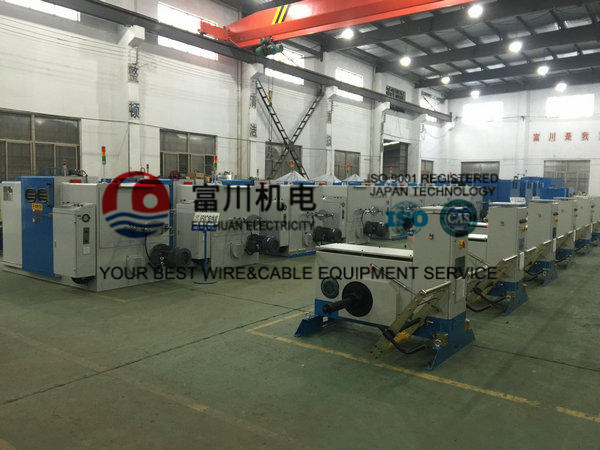 Cable Double Twist Bunching Machine , Plastic Wire Bunching Machine