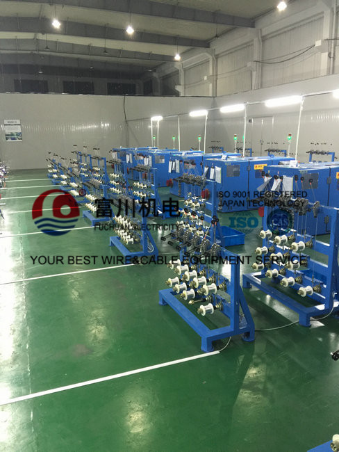High Productivity Copper Wire Bunching Machine For Twist 19 Pcs Wires One Time