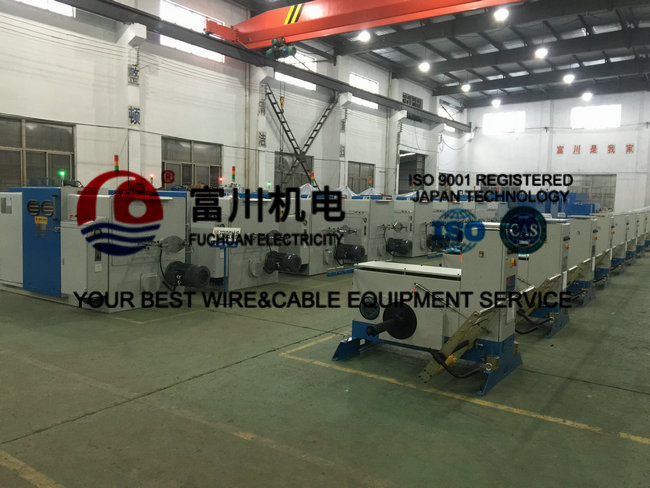 Sky Blue Copper Wire Bunching Machine / PLC Cable Twisting Machine