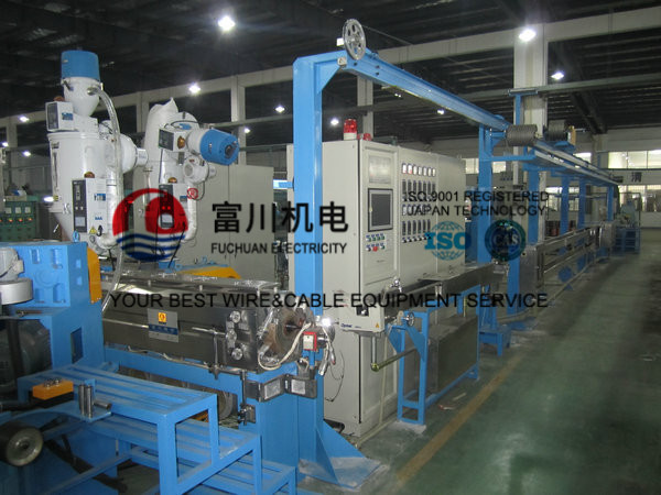 Fuchuan Photovoltaic Plastic Extruder Machine With Screw Dia 70mm For Wire Dia 1.5-12mm