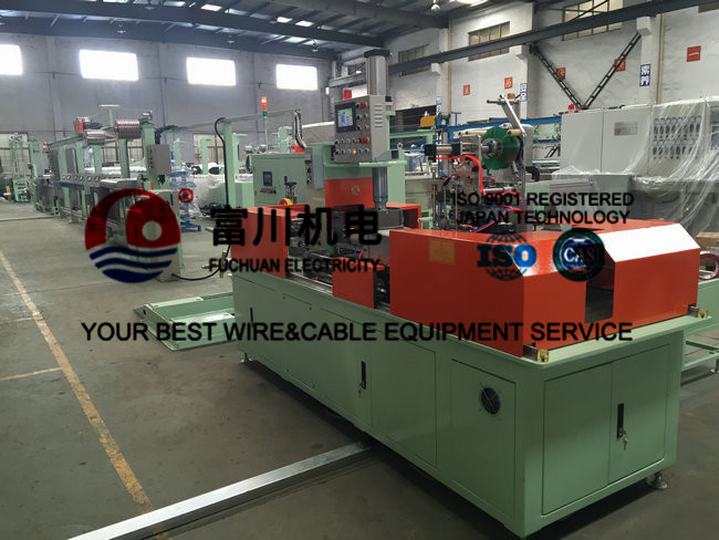 Fuchuan Cable Annealing Machine For Computer Cable With Screw 90mm Max Speed 200m/min