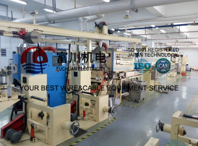 FC Cable Extrusion Machine , FEP FPA ETFE Plastic Extrusion Line With Screw Dia 35mm