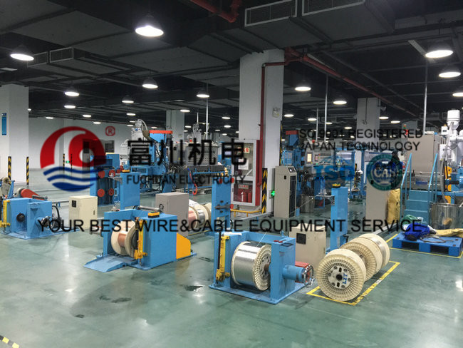 China Fuchuan F46 / FEP Plastic Extrusion Machinery , High temperature Extruder Line
