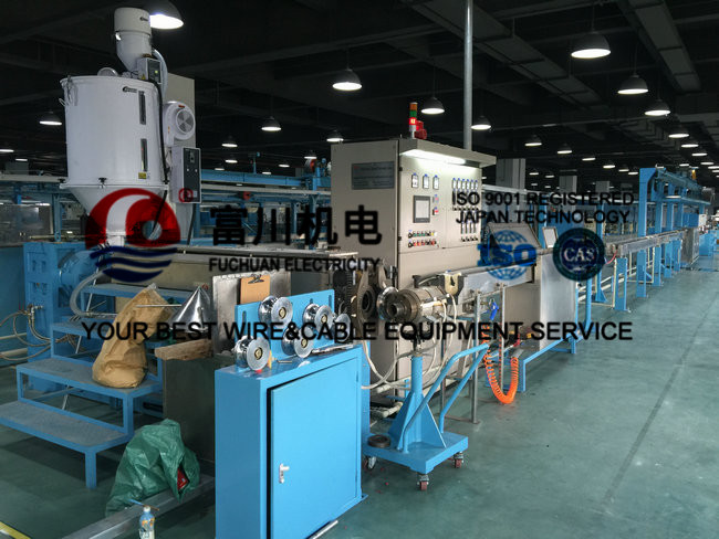 Cable Extrusion Machine For F40 Plastic Extruding With Finished Sheathed Dia 6-16mm