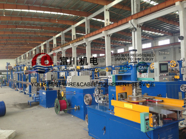 Cable Extruder Machine For BV Building Wire With Finished Dia 2-5mm Screw Dia 70mm