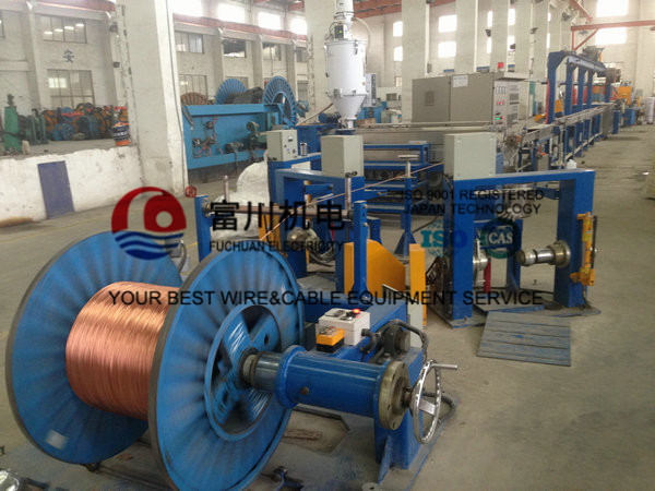 Plastic Extruder Machine For BV Building Cable With 70 Extruder Main Machine 45 Injection